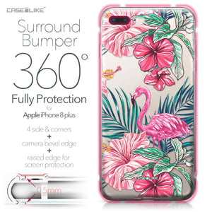 Apple iPhone 8 Plus case Tropical Flamingo 2239 Bumper Case Protection | CASEiLIKE.com