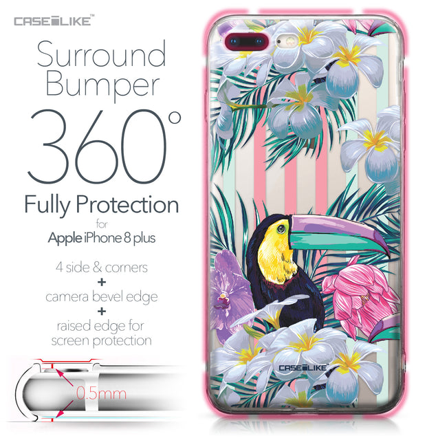 Apple iPhone 8 Plus case Tropical Floral 2240 Bumper Case Protection | CASEiLIKE.com