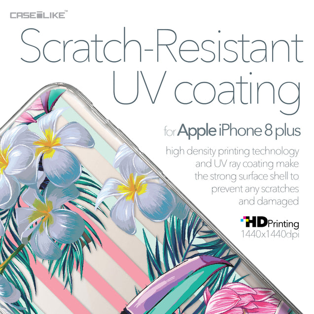 Apple iPhone 8 Plus case Tropical Floral 2240 with UV-Coating Scratch-Resistant Case | CASEiLIKE.com
