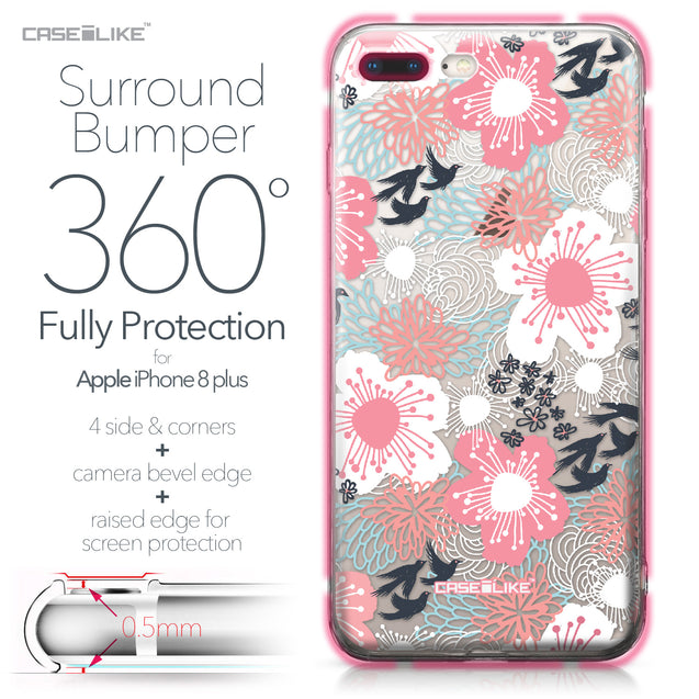 Apple iPhone 8 Plus case Japanese Floral 2255 Bumper Case Protection | CASEiLIKE.com