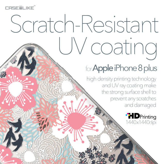 Apple iPhone 8 Plus case Japanese Floral 2255 with UV-Coating Scratch-Resistant Case | CASEiLIKE.com