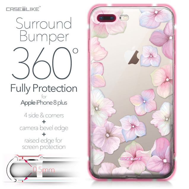 Apple iPhone 8 Plus case Hydrangea 2257 Bumper Case Protection | CASEiLIKE.com