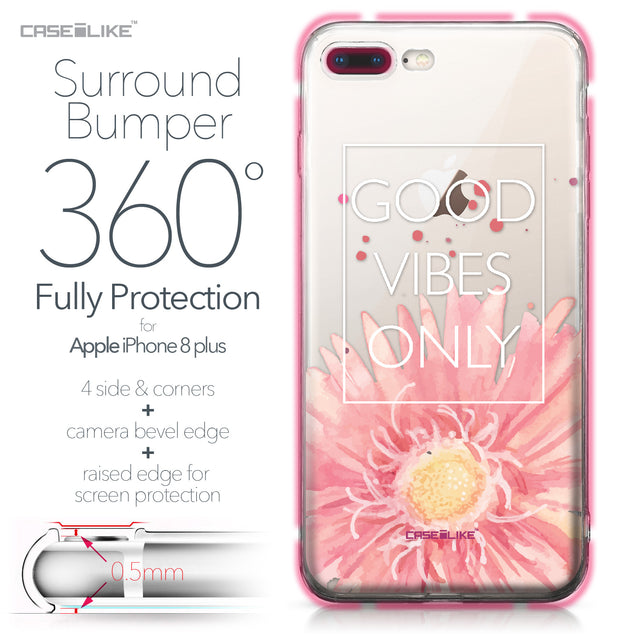 Apple iPhone 8 Plus case Gerbera 2258 Bumper Case Protection | CASEiLIKE.com