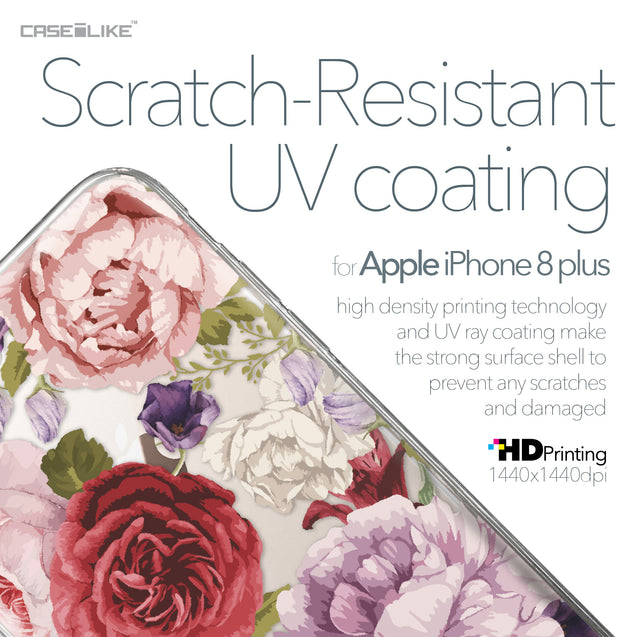 Apple iPhone 8 Plus case Mixed Roses 2259 with UV-Coating Scratch-Resistant Case | CASEiLIKE.com