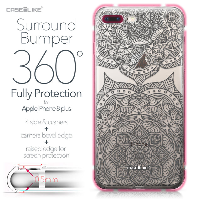 Apple iPhone 8 Plus case Mandala Art 2304 Bumper Case Protection | CASEiLIKE.com