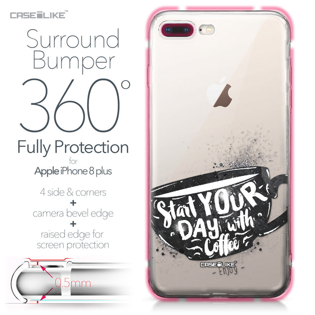 Apple iPhone 8 Plus case Quote 2402 Bumper Case Protection | CASEiLIKE.com