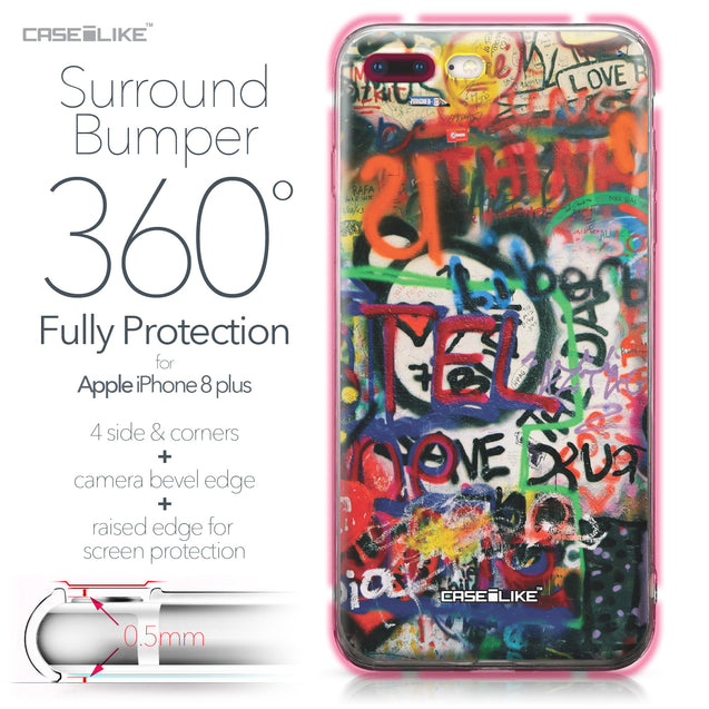 Apple iPhone 8 Plus case Graffiti 2721 Bumper Case Protection | CASEiLIKE.com