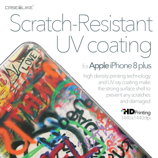 Apple iPhone 8 Plus case Graffiti 2721 with UV-Coating Scratch-Resistant Case | CASEiLIKE.com