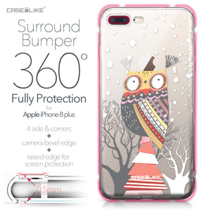 Apple iPhone 8 Plus case Owl Graphic Design 3317 Bumper Case Protection | CASEiLIKE.com