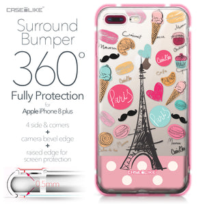 Apple iPhone 8 Plus case Paris Holiday 3904 Bumper Case Protection | CASEiLIKE.com