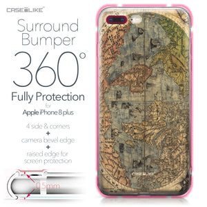 Apple iPhone 8 Plus case World Map Vintage 4608 Bumper Case Protection | CASEiLIKE.com