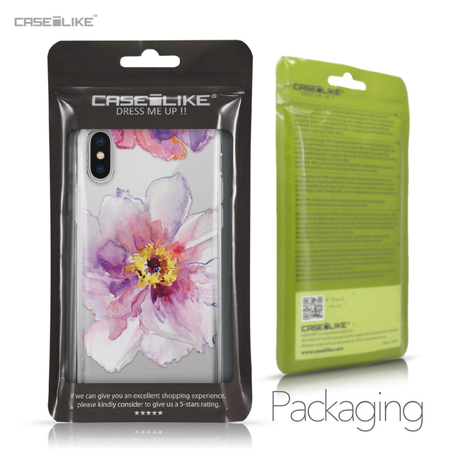 Apple iPhone X case Watercolor Floral 2231 Retail Packaging | CASEiLIKE.com