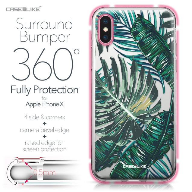 Apple iPhone X case Tropical Palm Tree 2238 Bumper Case Protection | CASEiLIKE.com
