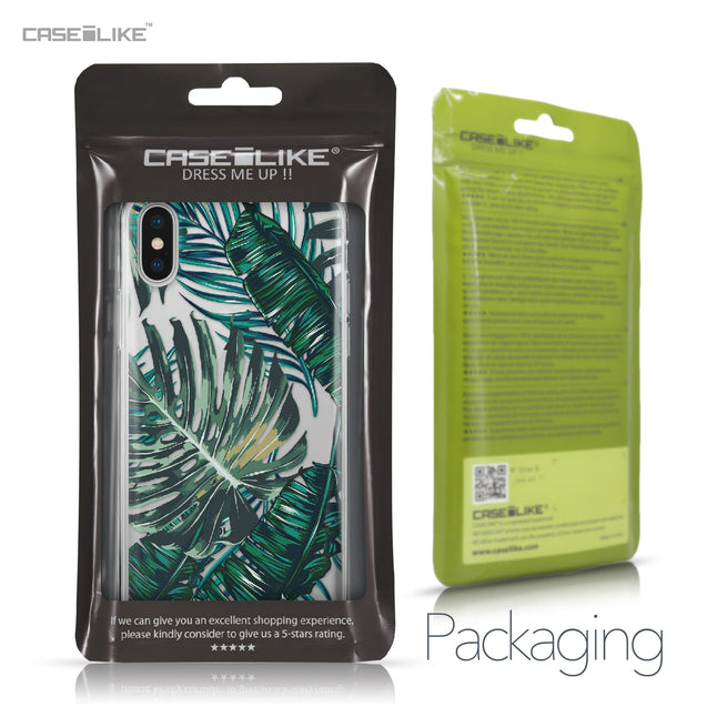 Apple iPhone X case Tropical Palm Tree 2238 Retail Packaging | CASEiLIKE.com