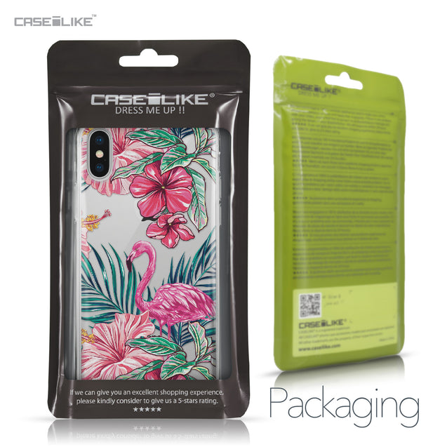 Apple iPhone X case Tropical Flamingo 2239 Retail Packaging | CASEiLIKE.com