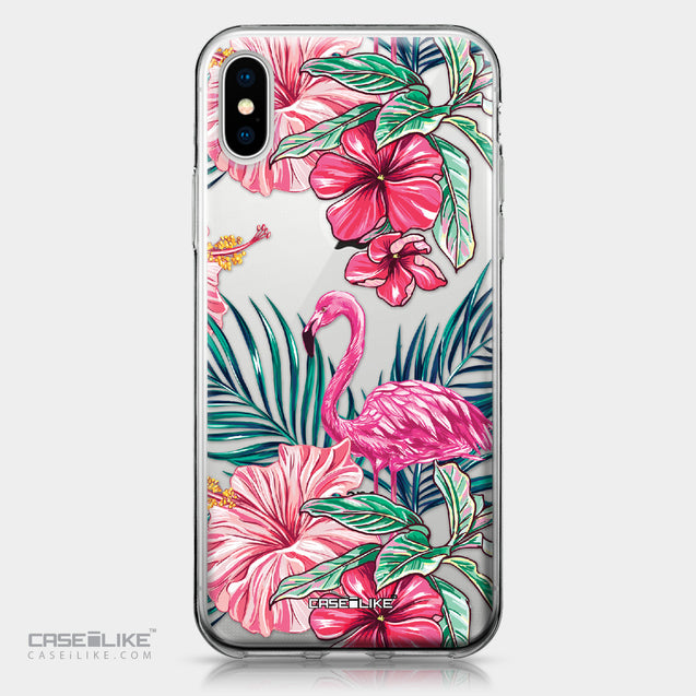 Apple iPhone X case Tropical Flamingo 2239 | CASEiLIKE.com
