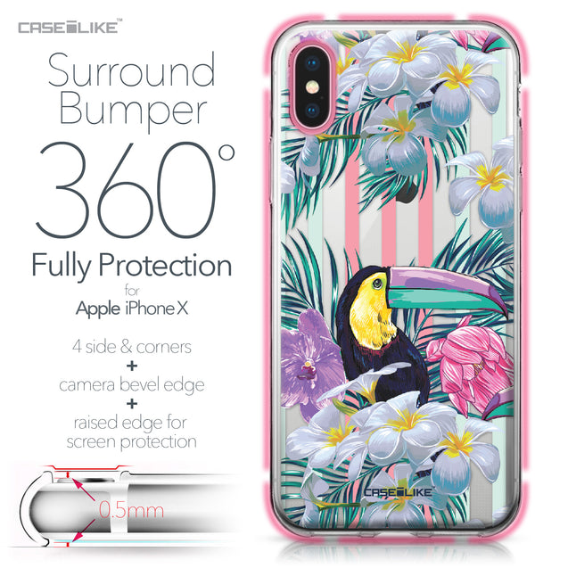 Apple iPhone X case Tropical Floral 2240 Bumper Case Protection | CASEiLIKE.com