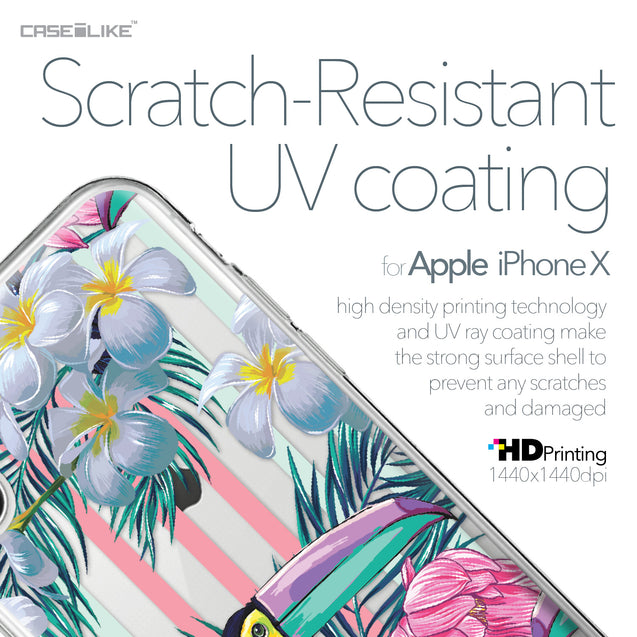 Apple iPhone X case Tropical Floral 2240 with UV-Coating Scratch-Resistant Case | CASEiLIKE.com