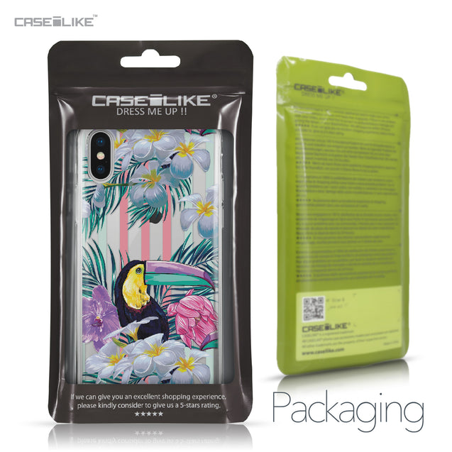 Apple iPhone X case Tropical Floral 2240 Retail Packaging | CASEiLIKE.com