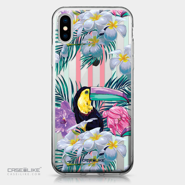 Apple iPhone X case Tropical Floral 2240 | CASEiLIKE.com