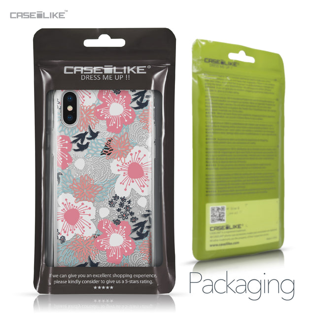 Apple iPhone X case Japanese Floral 2255 Retail Packaging | CASEiLIKE.com