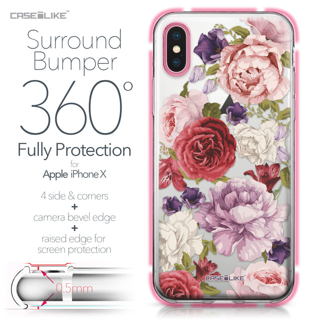 Apple iPhone X case Mixed Roses 2259 Bumper Case Protection | CASEiLIKE.com