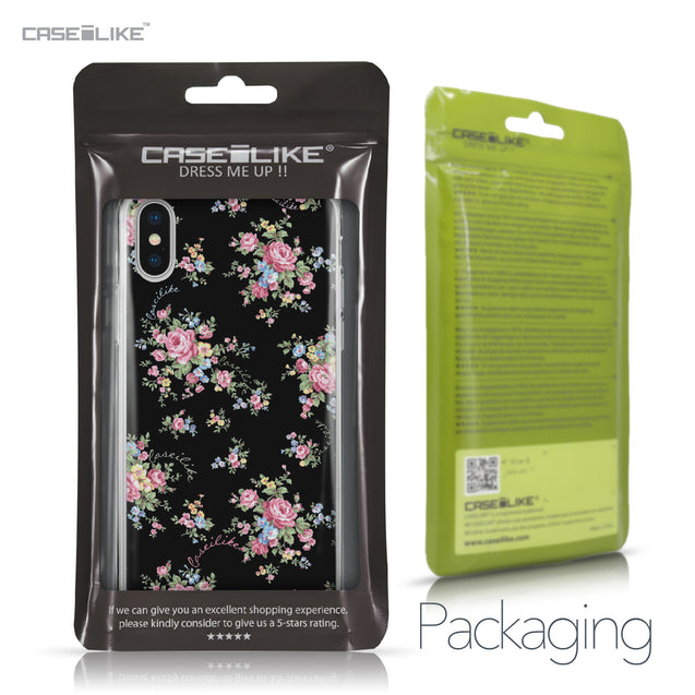 Apple iPhone X case Floral Rose Classic 2261 Retail Packaging | CASEiLIKE.com
