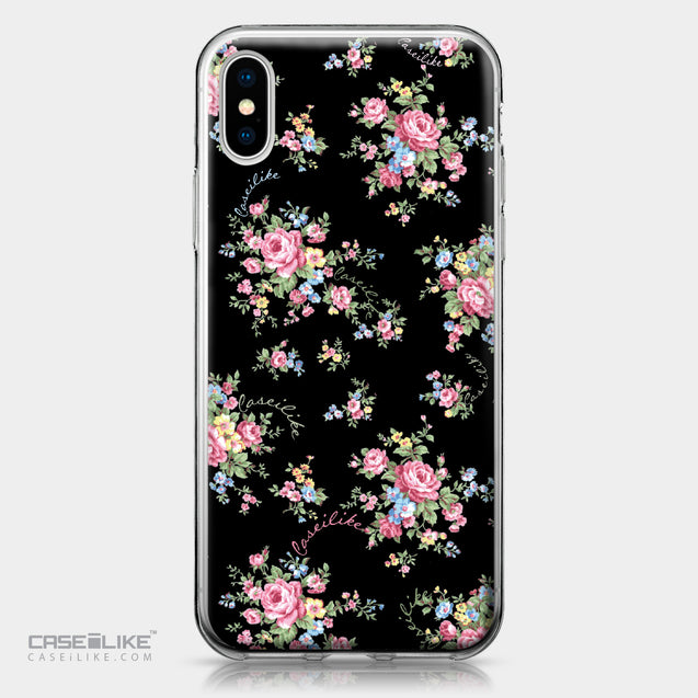 Apple iPhone X case Floral Rose Classic 2261 | CASEiLIKE.com