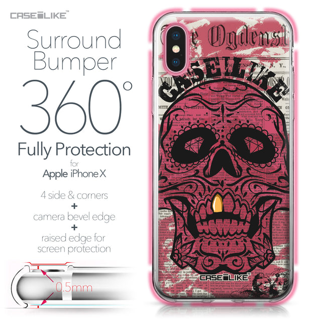 Apple iPhone X case Art of Skull 2523 Bumper Case Protection | CASEiLIKE.com