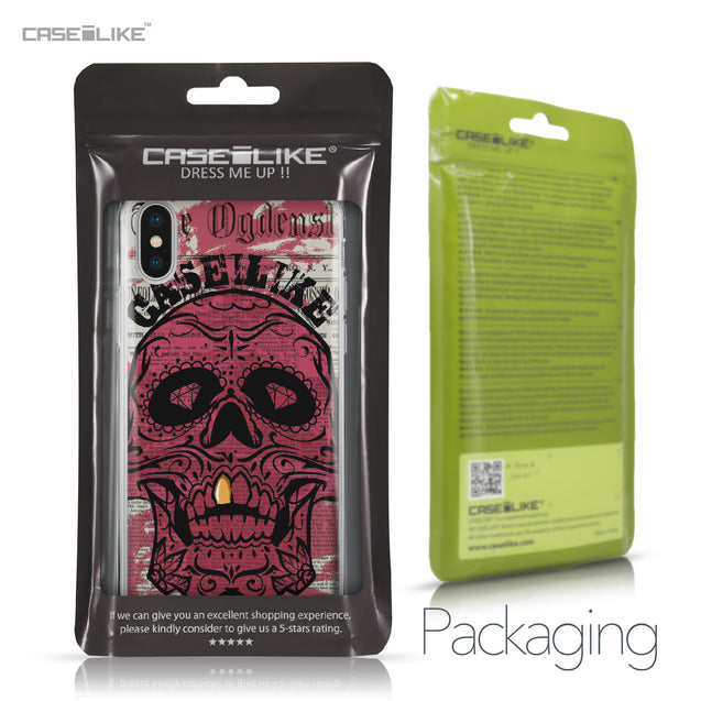 Apple iPhone X case Art of Skull 2523 Retail Packaging | CASEiLIKE.com