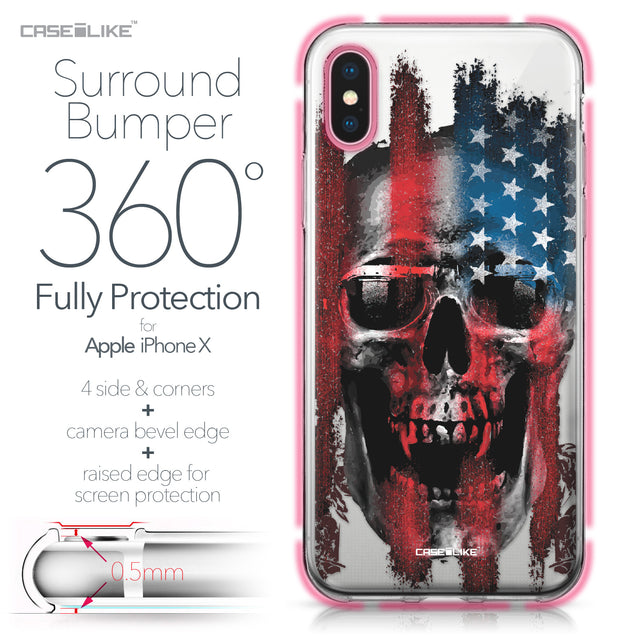 Apple iPhone X case Art of Skull 2532 Bumper Case Protection | CASEiLIKE.com