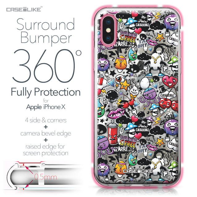 Apple iPhone X case Graffiti 2703 Bumper Case Protection | CASEiLIKE.com