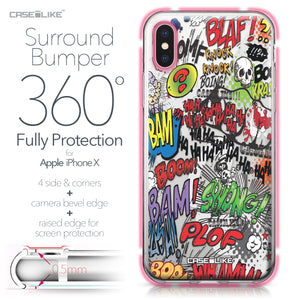 Apple iPhone X case Comic Captions 2914 Bumper Case Protection | CASEiLIKE.com