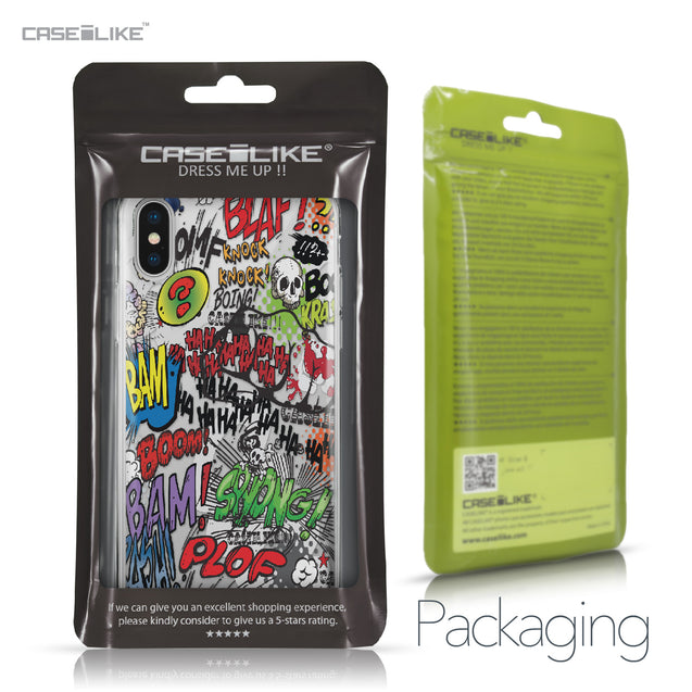 Apple iPhone X case Comic Captions 2914 Retail Packaging | CASEiLIKE.com