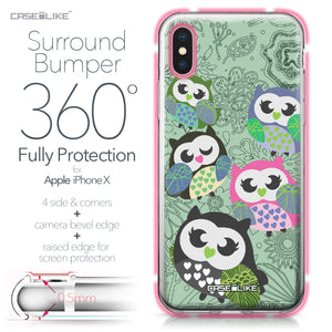 Apple iPhone X case Owl Graphic Design 3313 Bumper Case Protection | CASEiLIKE.com