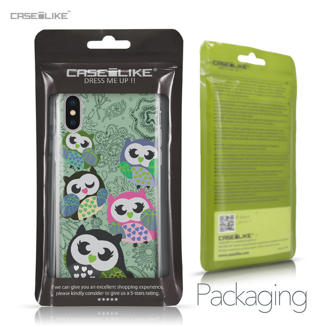 Apple iPhone X case Owl Graphic Design 3313 Retail Packaging | CASEiLIKE.com