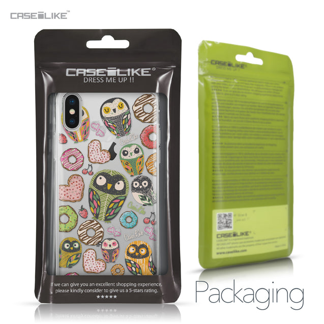 Apple iPhone X case Owl Graphic Design 3315 Retail Packaging | CASEiLIKE.com