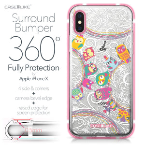 Apple iPhone X case Owl Graphic Design 3316 Bumper Case Protection | CASEiLIKE.com