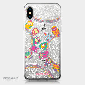 Apple iPhone X case Owl Graphic Design 3316 | CASEiLIKE.com