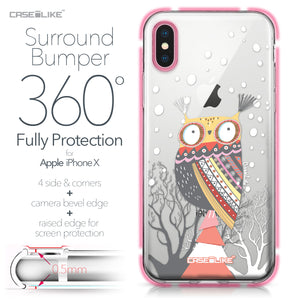Apple iPhone X case Owl Graphic Design 3317 Bumper Case Protection | CASEiLIKE.com