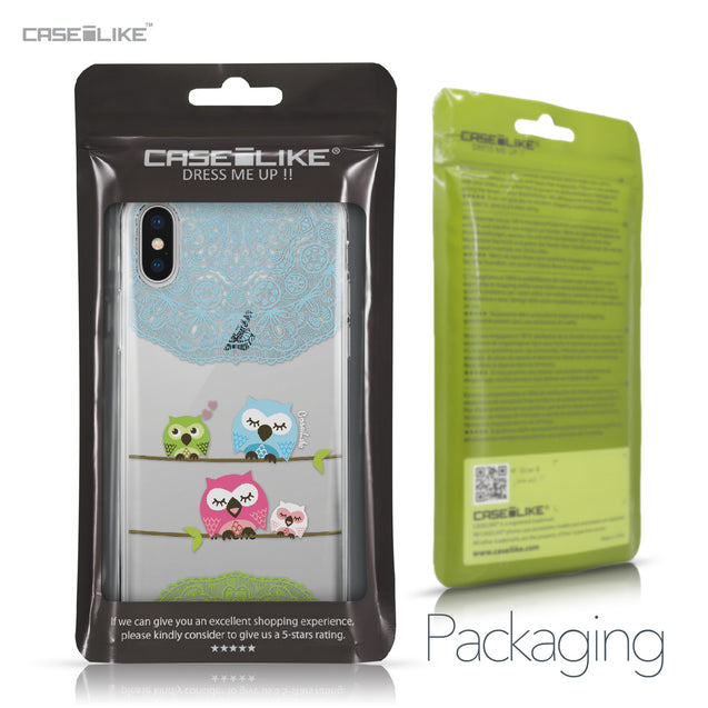 Apple iPhone X case Owl Graphic Design 3318 Retail Packaging | CASEiLIKE.com