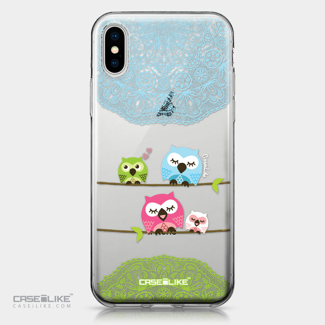 Apple iPhone X case Owl Graphic Design 3318 | CASEiLIKE.com