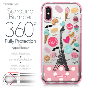 Apple iPhone X case Paris Holiday 3904 Bumper Case Protection | CASEiLIKE.com