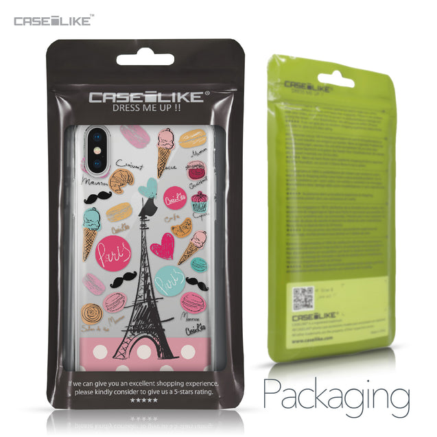 Apple iPhone X case Paris Holiday 3904 Retail Packaging | CASEiLIKE.com