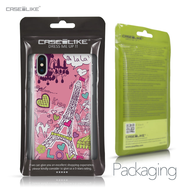 Apple iPhone X case Paris Holiday 3905 Retail Packaging | CASEiLIKE.com