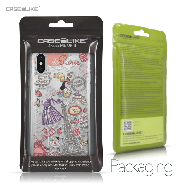 Apple iPhone X case Paris Holiday 3907 Retail Packaging | CASEiLIKE.com