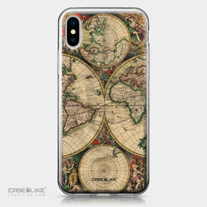 Apple iPhone X case World Map Vintage 4607 | CASEiLIKE.com