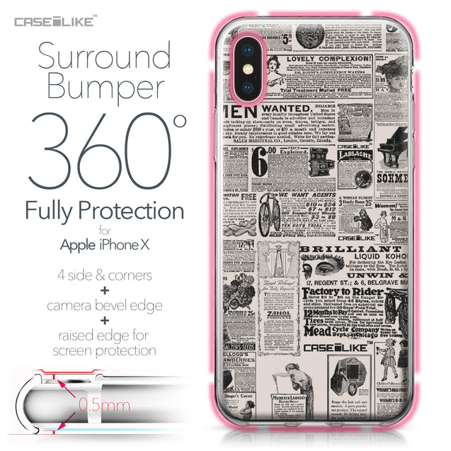 Apple iPhone X case Vintage Newspaper Advertising 4818 Bumper Case Protection | CASEiLIKE.com