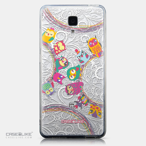 CASEiLIKE Xiaomi Mi 4 back cover Owl Graphic Design 3316