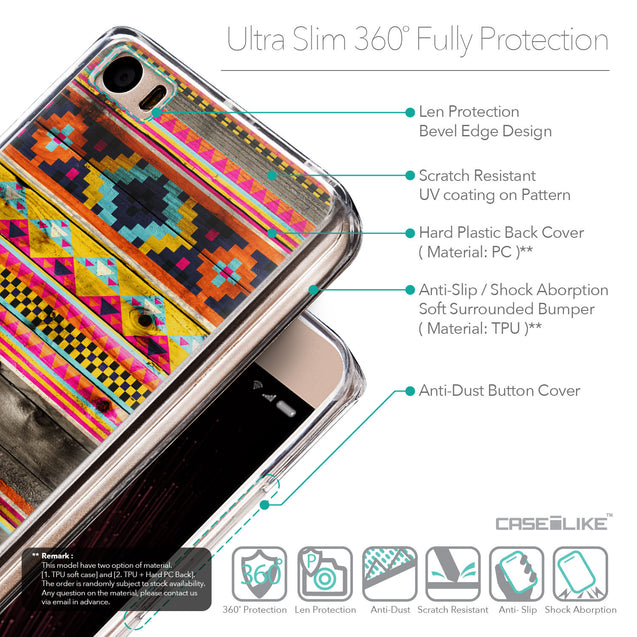 Details in English - CASEiLIKE Xiaomi Mi 5 back cover Indian Tribal Theme Pattern 2048